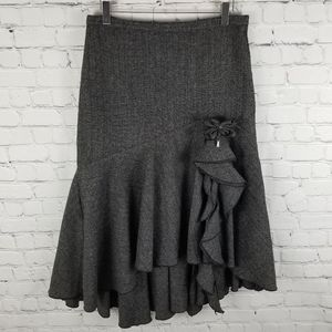 ARMOR JEANS   asymmetrical fit&flare ruffle skirt
